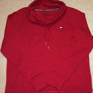 Tommy Hilfiger Red Scoop Neck Hoodie